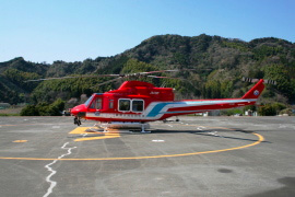 静岡ヘリポートのヘリコプター